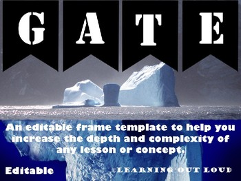 Depth and Complexity Frame - Editable
