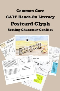 GATE Hands-on Literacy -- Postcard Glyph -- Setting, Chara
