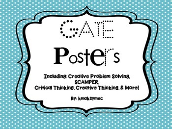 GATE Printable Posters for Bulletin Boards/Display