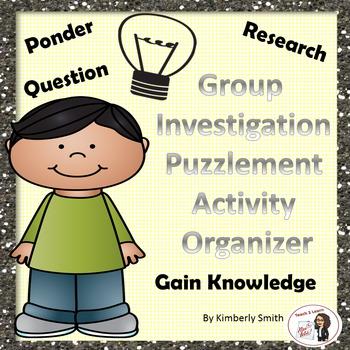Group Investigation Puzzlement Activity Organizer