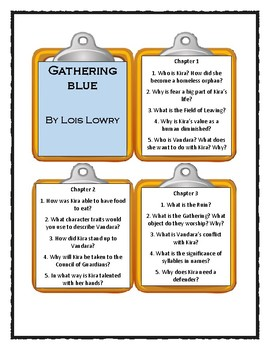 GATHERING BLUE by Lois Lowry - Discussion Cards