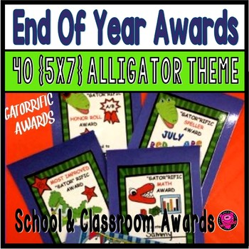 End of Year Alligator Theme Awards