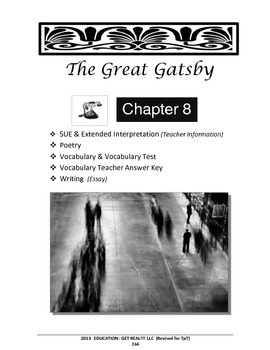 "GREAT GATSBY – Chapter 8:  ""The Very Thought of You ... Chapter"" ELA Lesson Plan"