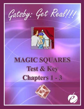 "ELA:  GATSBY - ""Magic Squares Quiz"" -  Chapters 1-3"