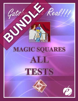 """GATSBY - """"Magic Squares Tests/Quizzes"""" BUNDLE:  ALL Chapters (1 – 9)"""""""
