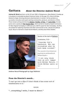 GATTACA film Teacher Text Guide and Worksheets
