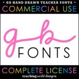 Teacher Fonts - GB Fonts - Complete License