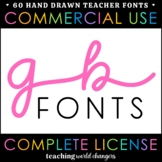 Teacher Fonts - GB Fonts - Growing Bundle