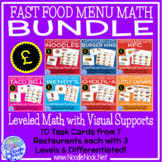 GBP Fast Food Menu Math with the POUND- Money Math Center