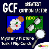 GCF Coloring Pages, Greatest Common Factor Color Activity Task Cards