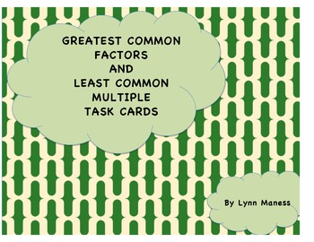 GCF AND LCM TASK CARDS STAAR review