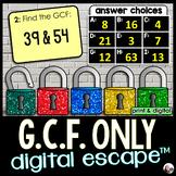 GCF Digital Math Escape Room