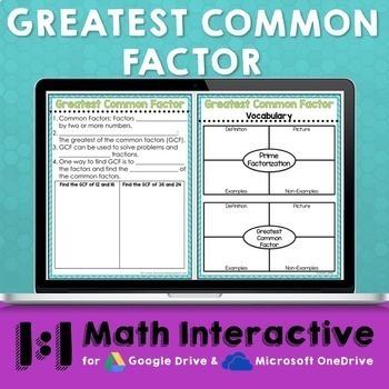 GCF Digital Math Notes