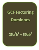 GCF Factoring Dominoes
