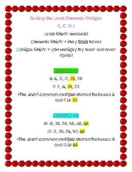 BUNDLED! Math Reference Sheets: GCF, LCM AND LIST OF 2XS-12XS multiples