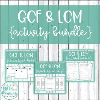 GCF & LCM Activity Mini-Bundle