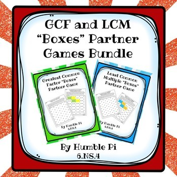 GCF + LCM Boxes Partner Games Bundle-6.NS.4