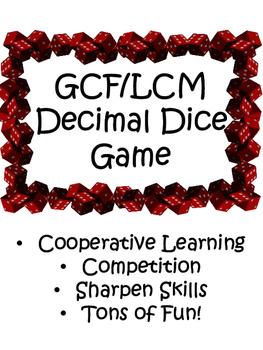 GCF/LCM Dice Game
