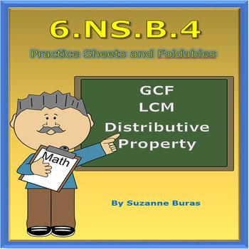 GCF, LCM, Distributive Property: 6.NS.B.4 by Suzanne's Classroom
