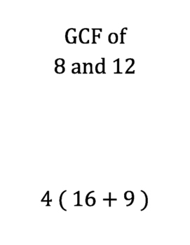 GCF, LCM, Distributive Property Scavenger Hunt