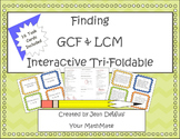 GCF & LCM Interactive Tri-Foldable Task Cards Included!