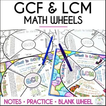 GCF & LCM Math Wheels - Note-Taking Format