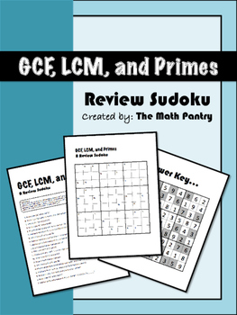 Gcf and lcm worksheets and answers