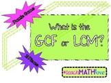 GCF & LCM Puzzle