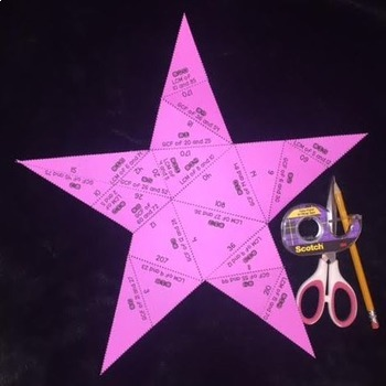 GCF & LCM (Star- Shaped Puzzle)