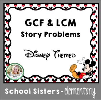 GCF & LCM Story Problems - Disney Themed