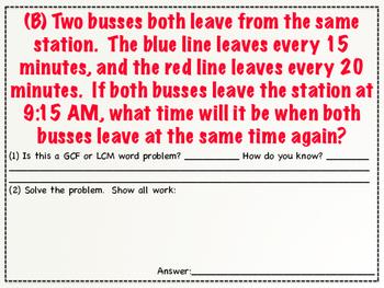 GCF & LCM Word Problems