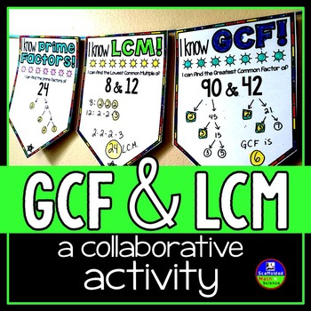 Prime and Composite Numbers, GCF and LCM Math Pennant