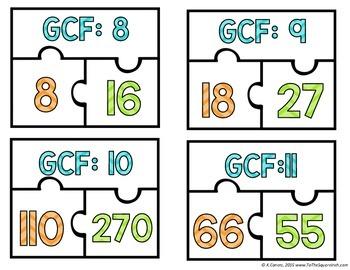 GCF Puzzles