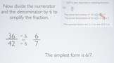 GCF, Prime Factorizations, and Simplifying Fractions