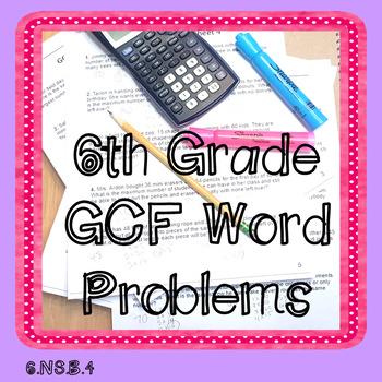 GCF Word Problems