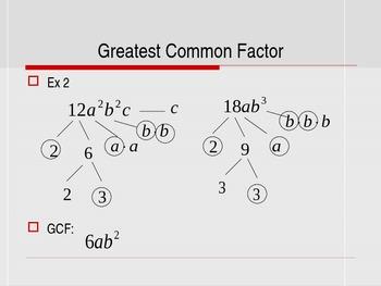 GCF and Factoring