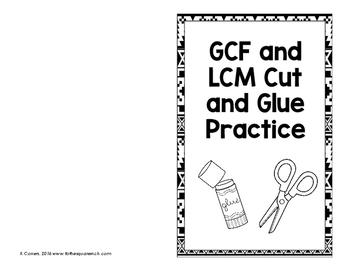 GCF and LCM Activity