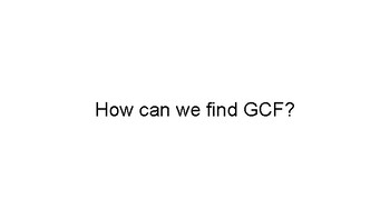GCF and LCM Application Word Problems