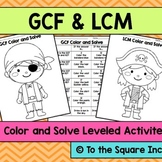 GCF and LCM Color and Solve