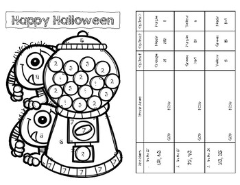 GCF and LCM Coloring Page
