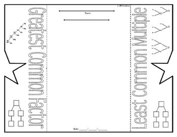 GCF and LCM Foldable Graphic Oragnizer