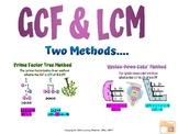 GCF and LCM Google Slides Lessons