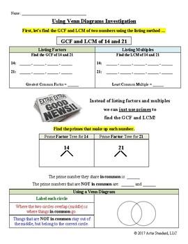 GCF and LCM Investigation