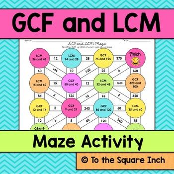 GCF and LCM Maze
