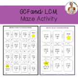 GCF and LCM Maze Activity