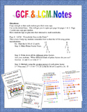 GCF and LCM Notes