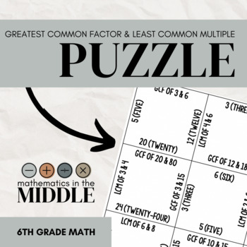 GCF and LCM Puzzle