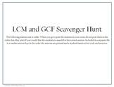 GCF and LCM Scavenger Hunt
