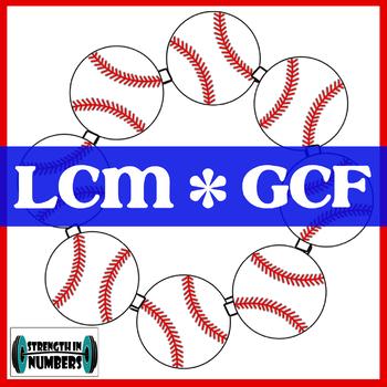 GCF and LCM Self Checking Activity Baseball Wreath