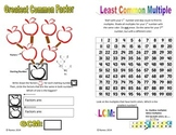 GCF and LCM Student Templates